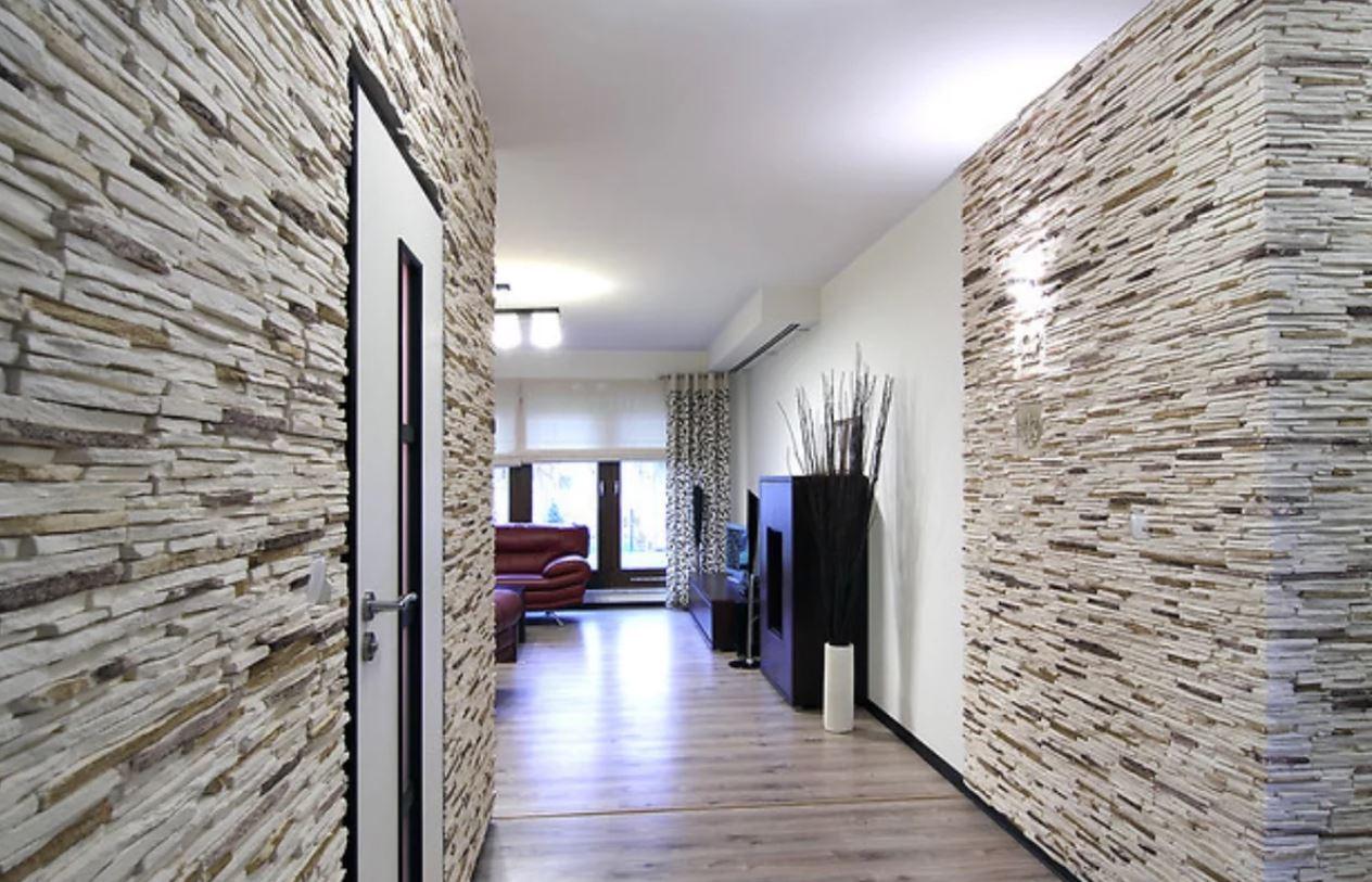 сланец камень в отделке квартиры фото понимании