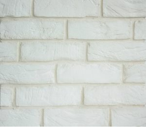 Гипсовая плитка KLINKER WHITE